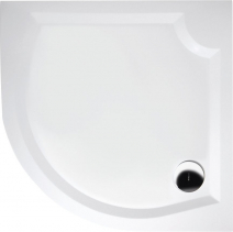 Gelco LAURA80 sprchová vanička z litého mramoru, čtvrtkruh 80x80x4cm, R500 GL508