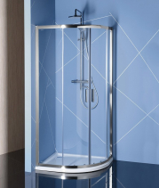 Polysan EASY LINE čtvrtkruhová sprchová zástěna 900x800mm, L/R, čiré sklo EL2815