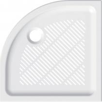 Mereo Čtvrtkruhová sprchová vanička, 80x80x6,5 cm, R550, keramická CV14X