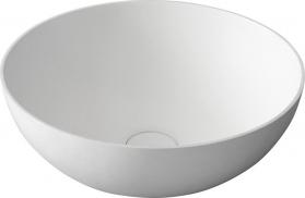 Sapho THIN kulaté umyvadlo na desku, 39x14, 5cm, bílá mat WN185
