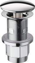 Silfra Neuzavíratelná kulatá výpusť pro umyvadla s přepadem i bez, V 10-80mm, chrom WF43451