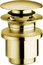 Silfra Uzavíratelná k. výpust pro umyvadla bez přepadu Click Clack, tichá, V10-25mm, zlato UD369S52