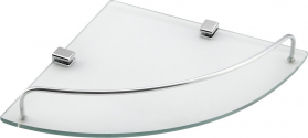 Aqualine RUMBA skleněná police 250x42x250 mm, čiré sklo RB115