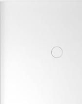 Polysan MIRAI sprchová vanička z litého mramoru, obdélník 100x90x1, 8cm, levá, bílá 73171