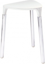 Gedy YANNIS koupelnová stolička 37x43, 5x32, 3 cm, bílá 217202