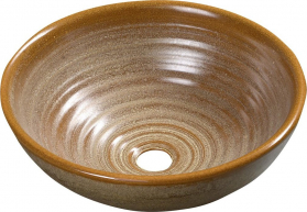 Sapho ATTILA keramické umyvadlo, průměr 42, 5 cm, hnědá DK009