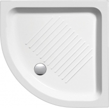 GSI Keramická sprchová vanička, čtvrtkruh 90x90x12cm, R550 449011