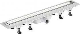 Polysan TILE plastový sprchový kanálek s nerezovým roštem pro dlažbu, 720x123x66 mm 72837