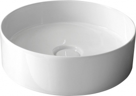 Sapho STORM CIRCLE umyvadlo prům. 40, 5 cm, včetně výpusti s keram. zátkou (31140101) RM040
