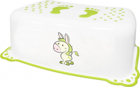 Aqualine Dětské protiskluzové stupátko do koupelny Oslík, bílá 7426