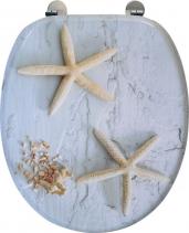 Aqualine FUNNY WC sedátko s potiskem mořská hvězda, MDF, bílá HY1185
