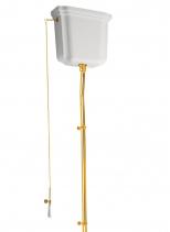 Kerasan RETRO-WALDORF splachovací mechanismus s řetízkem, zlato 750191