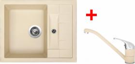 Granitový dřez Sinks CRYSTAL 615 Sahara+CAPRI 4 GR UKCR615CA450