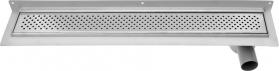 Aqualine KROKUS nerezový sprchový kanálek s roštem, ke zdi, 860x122x92 mm 2715-90