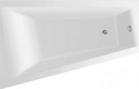 Aqualine METUJE vana 160x100x42cm bez nožiček, levá, bílá G2610