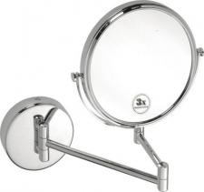 Bemeta OMEGA závěsné kosmetické zrcátko bez osvětlení, průměr 200mm, chrom 112201512