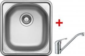 Nerezový dřez Sinks COMPACT 435 V+VENTO 4 CMM4655VVE4CL
