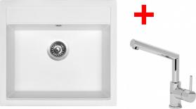 Granitový dřez Sinks SOLO 560 Milk+MIX 350P ACRS56028M350P