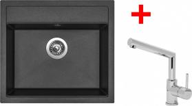 Granitový dřez Sinks SOLO 560 Metalb.+MIX 350P ACRS56074M350P