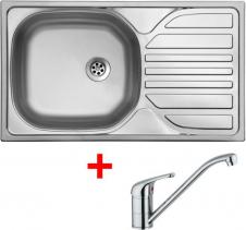 Nerezový dřez Sinks COMPACT 760 M+VENTO 4 CMM7605MVE4