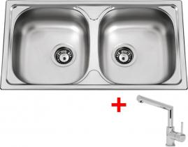 Nerezový dřez Sinks OKIO 780 DUO V+MIX 350P MP68196-OK78DVMI350PC