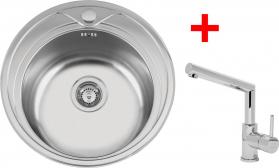 Nerezový dřez Sinks REDONDO 510 V+MIX 350P MP68223-PIREVMMI350PCL