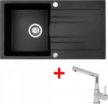 Granitový dřez Sinks RAPID 780 Granblack+MIX 350P RA30MI350P