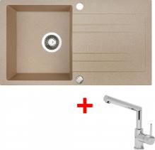 Granitový dřez Sinks RAPID 780 Beige+MIX 350P RA91MI350P