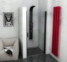 Polysan ZOOM LINE BLACK sprchové dveře 800mm, čiré sklo ZL1280B