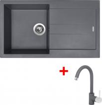Granitový dřez Sinks AMANDA 860 Titanium+MIX 35 GR TLA860M3572