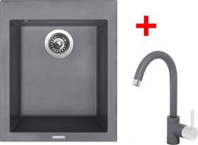 Granitový dřez Sinks CUBE 410 Titanium+MIX 35 GR TLC410MI3572