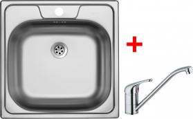 Nerezový dřez Sinks CLASSIC 480 M+VENTO 4 MP68294-CL480MVE4CL