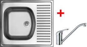 Nerezový dřez Sinks SHORT 580 M+VENTO 4 SH580MVE4CL