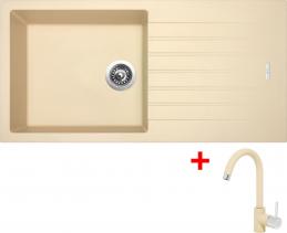 Granitový dřez Sinks PERFECTO 1000 Sahara+MIX35GR ACRP100M3550