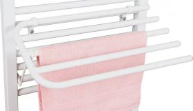 Aqualine Sušák 4 ručníků na otopná tělesa, univerzální upínání, délka 60cm, bílá 25-03-SV460