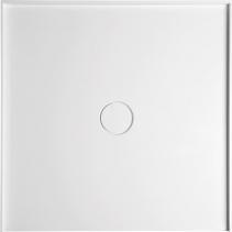 Polysan MIRAI sprchová vanička z litého mramoru do niky, 90x90x1, 8cm, bílá 73185