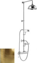 Alpi LONDON II sprchový sloup s pákovou baterií, mýdlenka, výška 1267mm, bronz LO41RM2251BR