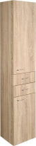 Aqualine ZOJA/KERAMIA FRESH skříňka vysoká 35x184x29cm, dub platin 51222