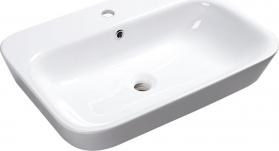 Sapho SAVANA keramické umyvadlo polozápustné, 65x17x45 cm 3065