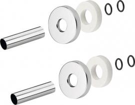 Sapho Set krycích rozet, broušený nerez CP6535