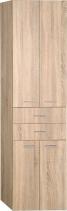 Aqualine ZOJA/KERAMIA FRESH skříňka vysoká se zásuvkami 50x184x29cm, dub platin 51296