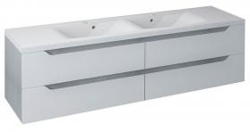 Sapho WAVE dvojumyvadlová skříňka 180x50x48cm, bílá/dub stříbrný (WA182) WA180-3011
