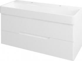 Sapho MEDIENA umyvadlová skříňka 117x50, 5x48, 5cm, bílá mat/bílá mat MD120