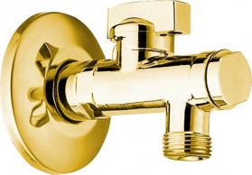 Reitano Rubinetteria Rohový ventil s matkou, 1/2'x 3/8', zlato 2020ZL