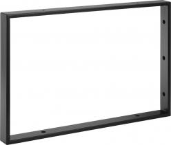 Sapho Podpěrná konzole 490x330x40mm, lakovaná ocel, černá mat, 1 ks 30370