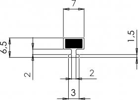 Polysan Magnetické těsnění do profilu do NIKY, 2000mm M125