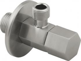 """Sapho SPY rohový ventil s rozetou, 1/2""""x 3/8"""" , nikl PY58/16"""