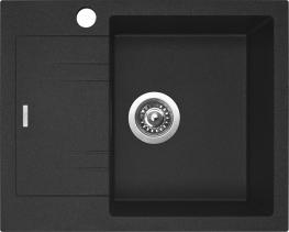 Granitový dřez Sinks LINEA 600 N Granblack PRAVÝ SIGLI600480N30P