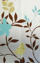 Aqualine Sprchový závěs 180x180cm, vinyl, květovaný ZV012