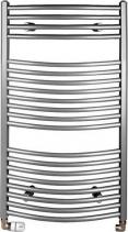 Aqualine ORBIT otopné těleso s bočním připojením 450x970 mm, 419 W, metalická stříbrná ILA94